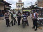 Brimob Aceh Bersama TNI Sosialisasi Prokes