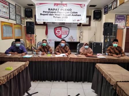 KPU Tetapkan Tiga Paslon Bupati dan Wakil Bupati Asahan