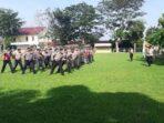 Pasukan Dalmas Latihan Pengendalian Massa Jelang Pilkada