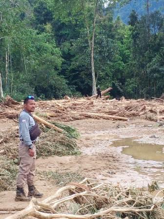 Banjir Yang Melanda Wisata Landak Reiver Murni Longsor Alami