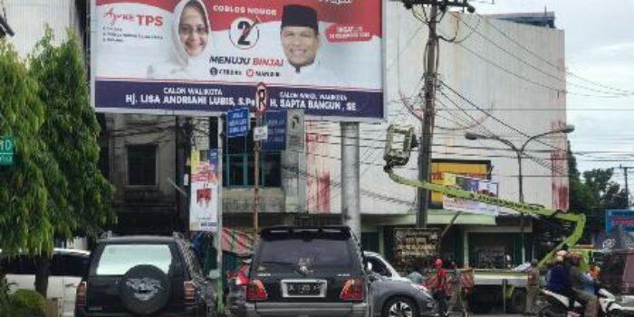 23 APK Di Billboard Ditertibkan Bawaslu Kota Binjai
