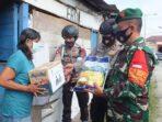 Sat Brimob Polda Sumut Bersama Koramil 01/Siantar Utara Laksanakan Bhakti Sosial