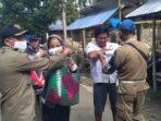 Satpol PP Nias Barat Laksanakan Pembagian Masker di Pasar