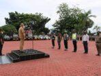 Polres Nias Laksanakan Apel Pagi Gelar Pasukan Operasi Ketupat Toba Tahun 2021