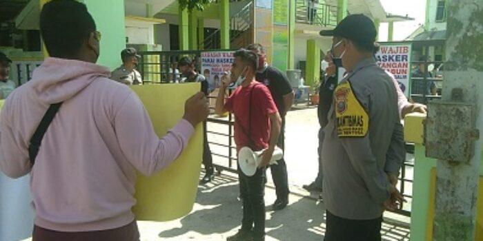 GMPKP-SU Demo Kantor Dinas Pendidikan Kota Tanjungbalai
