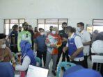 Bersepeda Sehat, Bupati Asahan dan Kapolres Tinjau Vaksinasi PTPN 3 Sei Silau