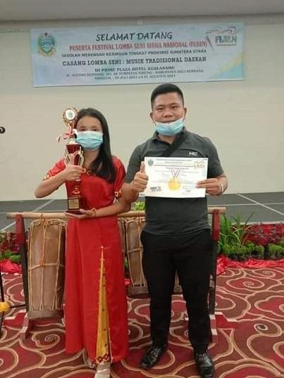 SMK N 2 Ulu Moro'o Juara 1 Vocal Solo Se- Provinsi Sumut