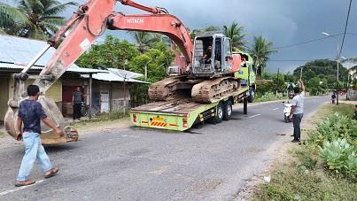 Bantu Satgas Pra TMMD Ke-112, Kodim Aceh Utara Datangkan Alat Berat
