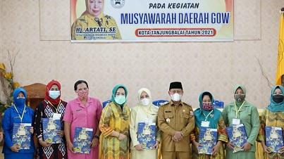 Hj Artati Kembali Pimpin GOW Tanjung Balai
