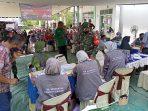 Personil Kodim Aceh Utara Kawal Kegiatan Vaksinasi Tamong Gampong