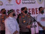Polda Metro Jaya Berkolaborasi Dengan Staf Khusus Kepresidenan Gelar Vaksinasi di Pondok Pesantren Az- Ziyadah