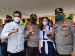 Walikota Pematangsiantar Bersama Kapolda Sumut Tinjau Vaksinasi Massal